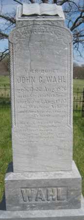 WAHL, JOHN G. - Saline County, Nebraska | JOHN G. WAHL - Nebraska Gravestone Photos