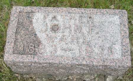 WAHL, JOHN F. - Saline County, Nebraska   JOHN F. WAHL - Nebraska Gravestone Photos