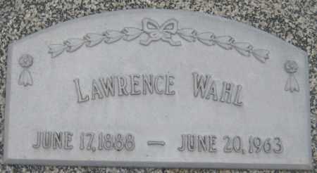 WAHL, LAWRENCE - Saline County, Nebraska   LAWRENCE WAHL - Nebraska Gravestone Photos