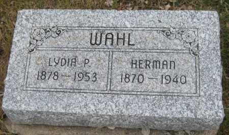 WAHL, HERMAN - Saline County, Nebraska | HERMAN WAHL - Nebraska Gravestone Photos