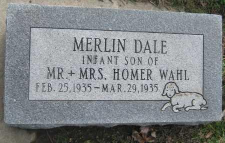 WAHL, MERLIN DALE - Saline County, Nebraska | MERLIN DALE WAHL - Nebraska Gravestone Photos