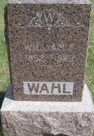 WAHL, WILLIAM F. - Saline County, Nebraska | WILLIAM F. WAHL - Nebraska Gravestone Photos