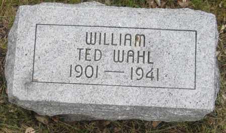WAHL, WILLIAM TED - Saline County, Nebraska | WILLIAM TED WAHL - Nebraska Gravestone Photos