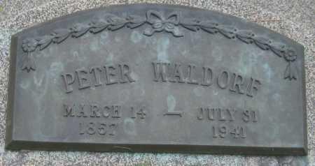 WALDORF, PETER - Saline County, Nebraska | PETER WALDORF - Nebraska Gravestone Photos