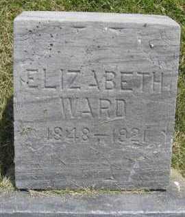 WARD, ELIZABETH - Saline County, Nebraska | ELIZABETH WARD - Nebraska Gravestone Photos