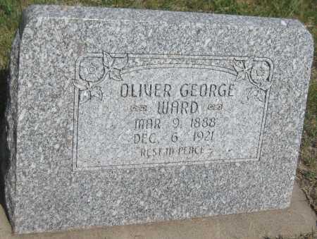 WARD, OLIVER GEORGE - Saline County, Nebraska | OLIVER GEORGE WARD - Nebraska Gravestone Photos