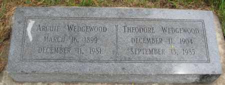 WEDGEWOOD, THEODORE - Saline County, Nebraska | THEODORE WEDGEWOOD - Nebraska Gravestone Photos