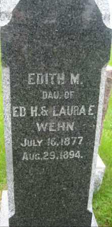 WEHN, EDITH M. - Saline County, Nebraska | EDITH M. WEHN - Nebraska Gravestone Photos