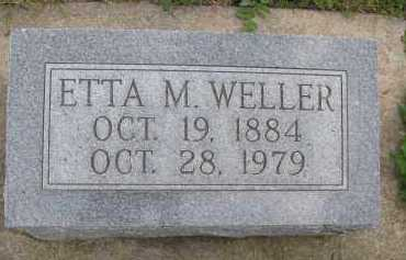 CRICK WELLER, ETTA MAHALA - Saline County, Nebraska | ETTA MAHALA CRICK WELLER - Nebraska Gravestone Photos