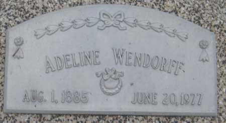 WENDORFF, ADELINE - Saline County, Nebraska | ADELINE WENDORFF - Nebraska Gravestone Photos