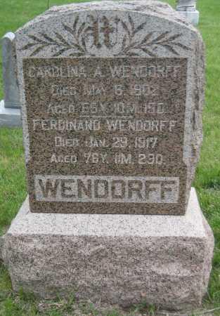 WENDORFF, CAROLINA A. - Saline County, Nebraska   CAROLINA A. WENDORFF - Nebraska Gravestone Photos