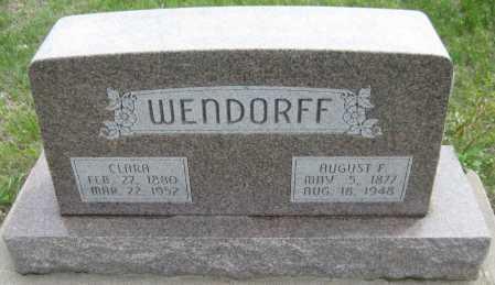 WENDORFF, AUGUST F. - Saline County, Nebraska | AUGUST F. WENDORFF - Nebraska Gravestone Photos
