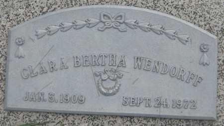 WENDORFF, CLARA BERTHA - Saline County, Nebraska | CLARA BERTHA WENDORFF - Nebraska Gravestone Photos