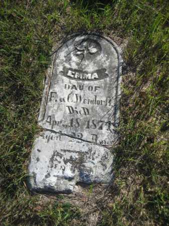 WENDORFF, EMMA - Saline County, Nebraska | EMMA WENDORFF - Nebraska Gravestone Photos