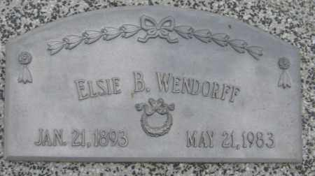 WENDORFF, ELSIE B. - Saline County, Nebraska | ELSIE B. WENDORFF - Nebraska Gravestone Photos