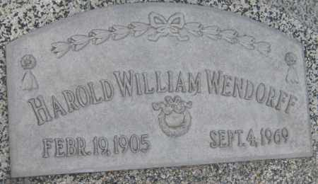 WENDORFF, HAROLD WILLIAM - Saline County, Nebraska | HAROLD WILLIAM WENDORFF - Nebraska Gravestone Photos