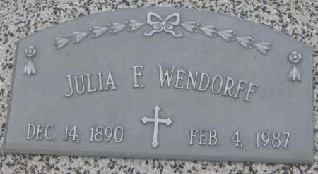 WENDORFF, JULIA F. - Saline County, Nebraska | JULIA F. WENDORFF - Nebraska Gravestone Photos