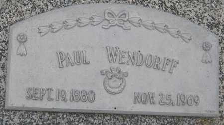 WENDORFF, PAUL - Saline County, Nebraska | PAUL WENDORFF - Nebraska Gravestone Photos