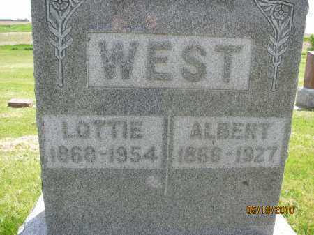 CHUTE WEST, LOTTIE VICTORIA - Saline County, Nebraska | LOTTIE VICTORIA CHUTE WEST - Nebraska Gravestone Photos