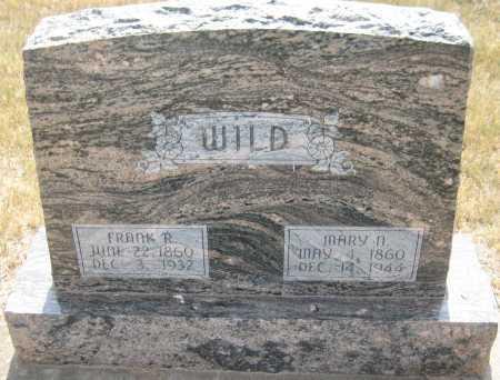 WILD, FRANK R. - Saline County, Nebraska   FRANK R. WILD - Nebraska Gravestone Photos