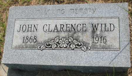 WILD, JOHN CLARENCE - Saline County, Nebraska | JOHN CLARENCE WILD - Nebraska Gravestone Photos