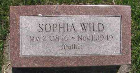 WILD, SOPHIA - Saline County, Nebraska   SOPHIA WILD - Nebraska Gravestone Photos