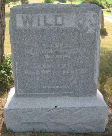 WILD, W. J. - Saline County, Nebraska | W. J. WILD - Nebraska Gravestone Photos
