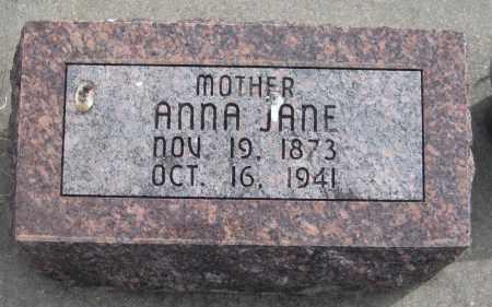 WILLEFORD, ANNA JANE - Saline County, Nebraska | ANNA JANE WILLEFORD - Nebraska Gravestone Photos