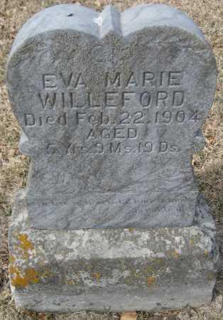 WILLEFORD, EVA MARIE - Saline County, Nebraska | EVA MARIE WILLEFORD - Nebraska Gravestone Photos