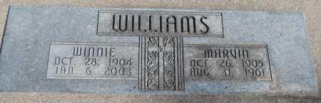 WILLIAMS, WINNIE - Saline County, Nebraska | WINNIE WILLIAMS - Nebraska Gravestone Photos