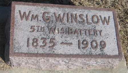 WINSLOW, WILLIAM G. - Saline County, Nebraska   WILLIAM G. WINSLOW - Nebraska Gravestone Photos