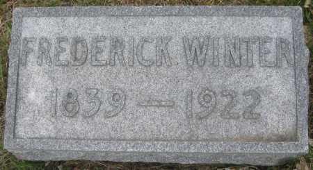 WINTER, FREDERICK - Saline County, Nebraska   FREDERICK WINTER - Nebraska Gravestone Photos