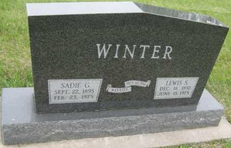 GOODELL WINTER, SADIE G. - Saline County, Nebraska   SADIE G. GOODELL WINTER - Nebraska Gravestone Photos