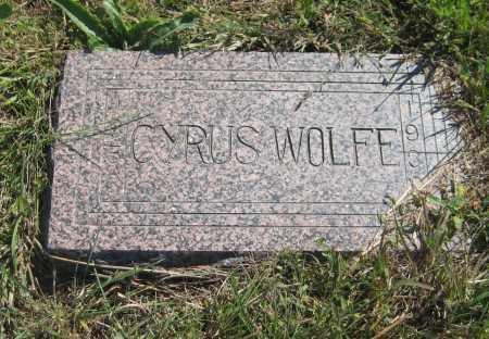 WOLFE, CYRUS - Saline County, Nebraska   CYRUS WOLFE - Nebraska Gravestone Photos