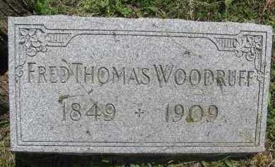 WOODRUFF, FRED THOMAS - Saline County, Nebraska | FRED THOMAS WOODRUFF - Nebraska Gravestone Photos