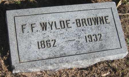 WYLDE-BROWNE, F.F. - Saline County, Nebraska | F.F. WYLDE-BROWNE - Nebraska Gravestone Photos