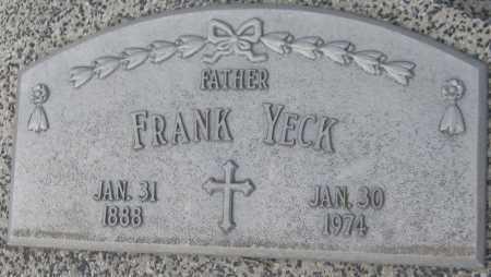YECK, FRANK - Saline County, Nebraska | FRANK YECK - Nebraska Gravestone Photos