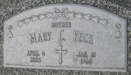 YECK, MARY C. - Saline County, Nebraska | MARY C. YECK - Nebraska Gravestone Photos