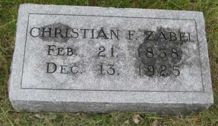 ZABEL, CHRISTIAN F. - Saline County, Nebraska | CHRISTIAN F. ZABEL - Nebraska Gravestone Photos