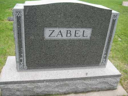 ZABEL, FAMILY MONUMENT - Saline County, Nebraska | FAMILY MONUMENT ZABEL - Nebraska Gravestone Photos