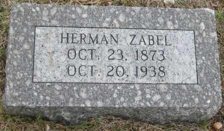 ZABEL, HERMAN - Saline County, Nebraska | HERMAN ZABEL - Nebraska Gravestone Photos