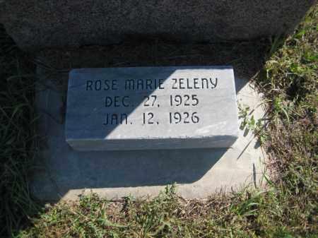 ZELENY, ROSE MARIE - Saline County, Nebraska | ROSE MARIE ZELENY - Nebraska Gravestone Photos