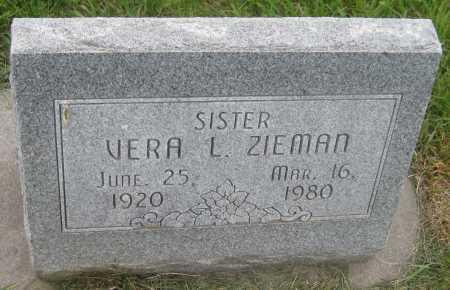 ZIEMAN, VERA L. - Saline County, Nebraska   VERA L. ZIEMAN - Nebraska Gravestone Photos