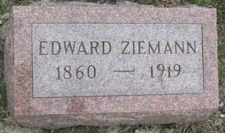 ZIEMANN, EDWARD - Saline County, Nebraska | EDWARD ZIEMANN - Nebraska Gravestone Photos