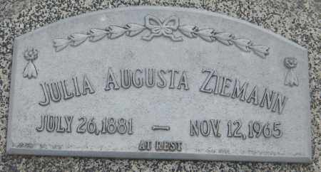 ZIEMANN, JULIA AUGUSTA - Saline County, Nebraska   JULIA AUGUSTA ZIEMANN - Nebraska Gravestone Photos