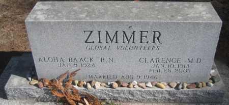 ZIMMER, ALOHA - Saline County, Nebraska | ALOHA ZIMMER - Nebraska Gravestone Photos