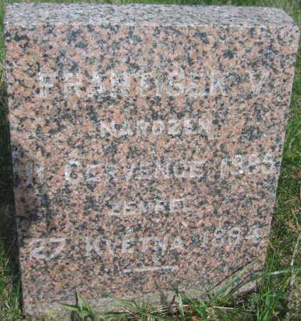ZNAMENACEK, FRANTISEK V. - Saline County, Nebraska | FRANTISEK V. ZNAMENACEK - Nebraska Gravestone Photos