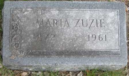ZUZIE, MARIA - Saline County, Nebraska | MARIA ZUZIE - Nebraska Gravestone Photos