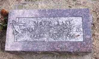AASE, MARY - Sarpy County, Nebraska | MARY AASE - Nebraska Gravestone Photos