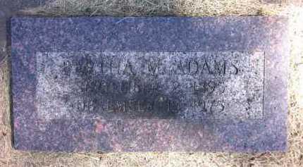 ADAMS, BERTHA M. - Sarpy County, Nebraska | BERTHA M. ADAMS - Nebraska Gravestone Photos